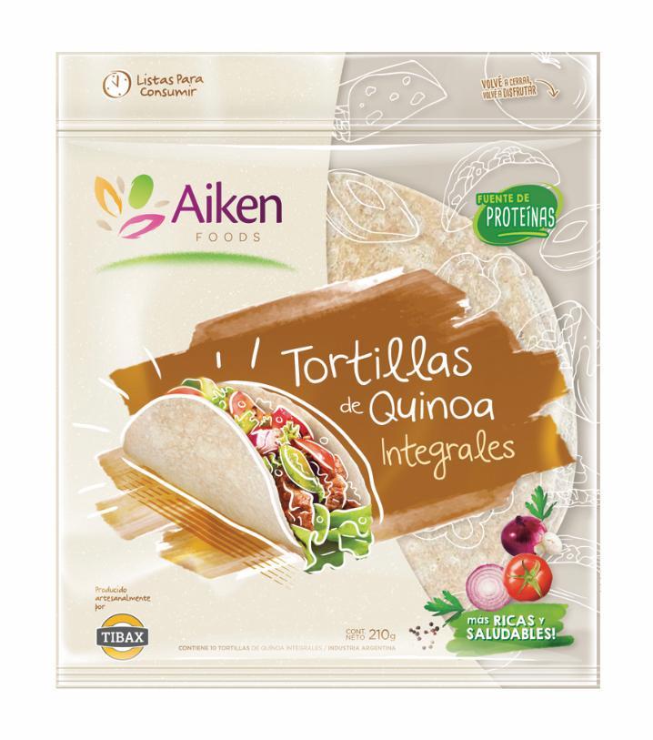 Tortillas de quinoa integrales